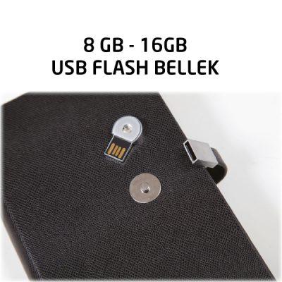 12x18 USB TARİHSİZ ORGANİZER AJANDA SİYAH + USB ST370635 SY
