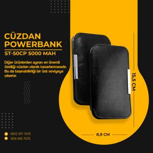 CÜZDAN POWERBANK ST50CP 5000MAH